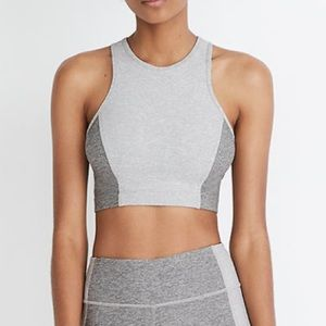 outdoor voices gray athena crop top Size small